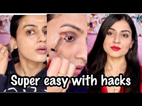 EASY GLAM MAKEUP TUTORIAL   Valentines Day 2019 Makeup Look   Classic Smokey Eyes & Red Lips Makeup