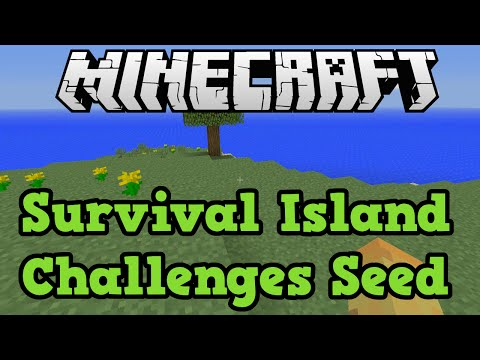 Minecraft Xbox One (+ 360) Survival Island Seed With Challenges