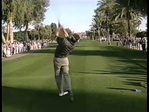 Here's a clip of Bruce Lietzke hitting a driver. If I'm not mistaken, this is the final round of the 1998 Bob Hope Chrysler Classic. Lietzke shot a 62 this round. As far as I can tell, this...