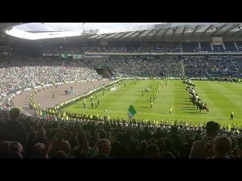 Amazing Hibs Fans Best Sunshine on Leith Scottish cup final 2016