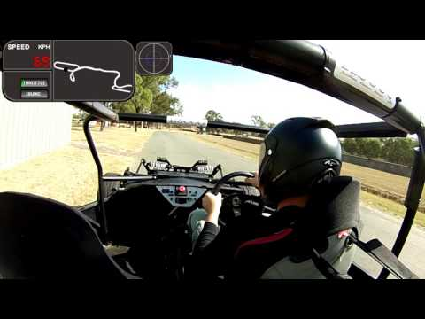 Full Charge Motorsport Electric race car in action at the khanacross 22 05 16 test 1