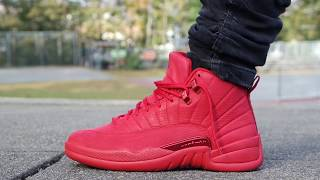 "AIR JORDAN 12 ""GYM RED"" ""REVIEW & ON FEET! EARLY LOOK"