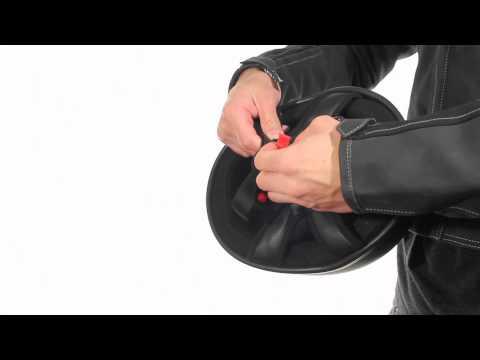 Outlaw T68 Flat Black SP DOT Skull Cap Half Helmet