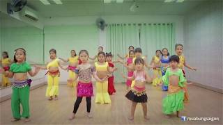 [Belly Dance for Kid] 1001 Nights - Alf Leyla Wa Leyla - lớp cô Thư | SaigonBellyDance