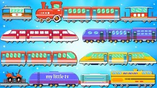 Trains for Children   Street Vehicles   Bullet Trains   Learning Videos & Rhymes for Kids