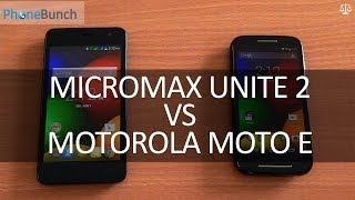 Micromax Unite 2 vs Motorola Moto E