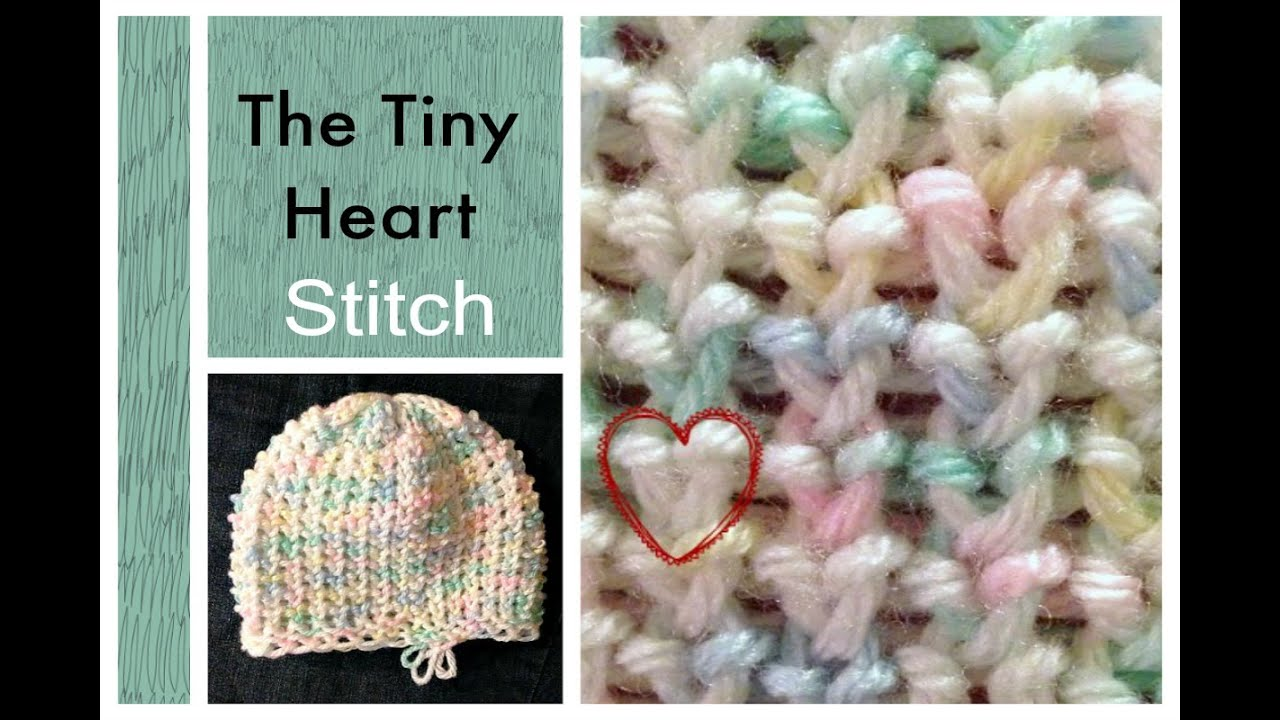LOOM KNITTING STITCHES Tiny Heart Stitch on a Knitting Loom - YouTube
