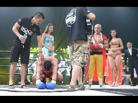 WLF!! new ! shaolin monk Yi Long Beaten world Muaythai champion 'jomthong'