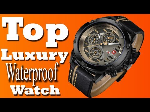Naviforce watches Review All Black Watch Mens  Best waterproof luxury watch brands 2018 ||