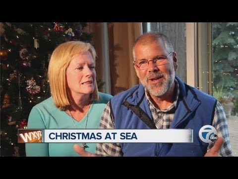 Couple spends Christmas at see