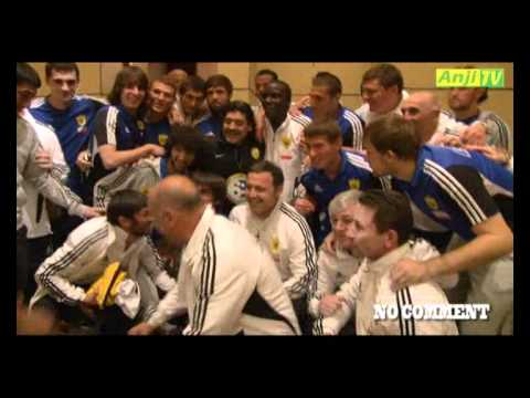 Диего Марадона в гостях у Анжи