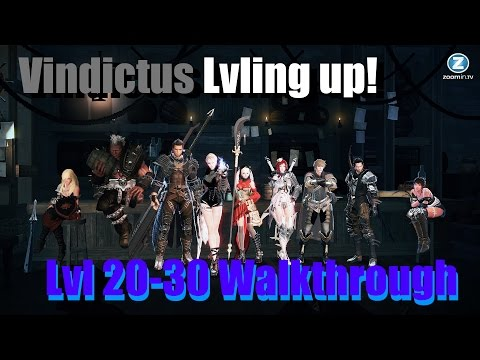 Vindictus Lvling Up 20 - 30 Walkthrough No NX EXP Items W/Commentary