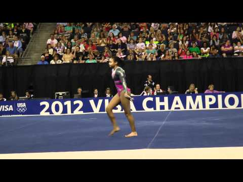 Brianna Brown -- Floor -- 2012 Visa Championships -- Sr. Women -- Day 1