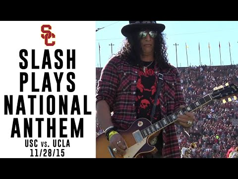USC v UCLA Slash National Anthem