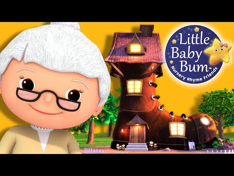 Old Woman Who Lived In A Shoe | Nursery Rhymes | By LittleBabyBum