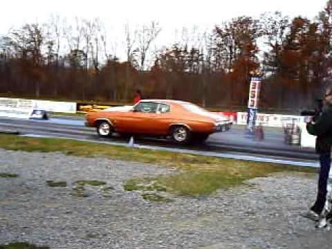 Street/strip 632ci Chevelle drag racing 9.40 @ 145mph