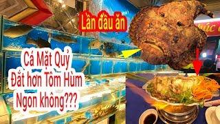 Lần đầu ăn Cá Mặt Quỷ khổng lồ 1,4tr/kg đắt hơn Tôm hùm ở vựa Hải sản 187 Tân Sơn Nhì