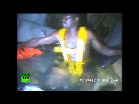 Miraculous Rescue Video  Man Survives 60 Hrs Underwater In Sunken Boat