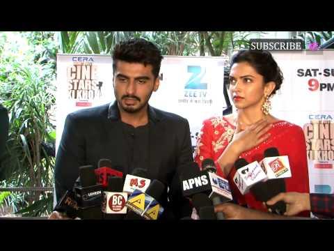 Arjun Kapoor & Deepika Padukone on Set of Cine Stars Ki Khoj Show