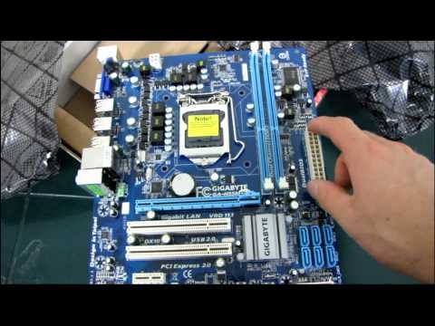 Gigabyte H55M-S2 H55 Core i3 DDR3 Motherboard Unboxing & First Look Linus Tech Tips