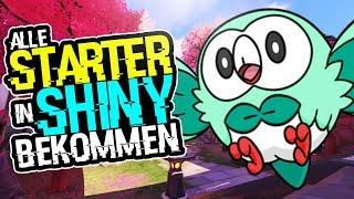 Alle Starter Pokemon In Shiny bekommen !! | Flamiau & Bauz Shiny ! | Pokemon Sonne & Pokemon Mond