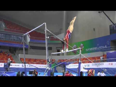 Kyla Ross - Uneven Bars - 2014 World Championships - Podium...