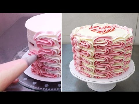 Buttercream Cake Decorating/Decorar con manga pastelera ...