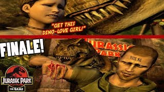 """T-REX WAS NOT PLAYING!! (FUNNY """"JURASSIC PARK, THE GAME"""" FINALE)"""