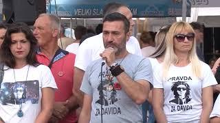 BANJA LUKA - VEČERAS 88. PUT TRAŽNA PRAVDA ZA DAVIDA 21. 06. 2018.