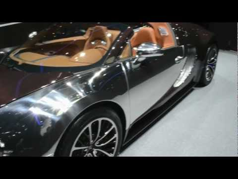 Bugatti Veyron Grand Sport – Geneva 2012 – Brown Carbon ! Exclusive videos from in the stand