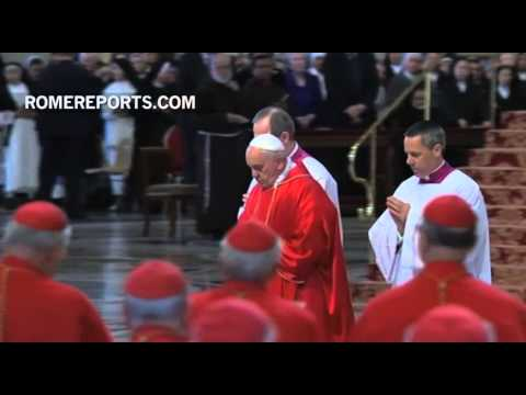 Pope Francis Prays Face Down, On The Floor Of St. Peter\'s Basilica video