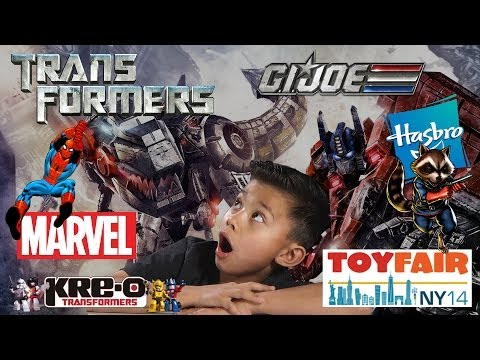 Transformers Age Of Extinction, G.i.joe, Kre-o, Marvel Superheroes At Hasbro - Ny Toy Fair 2014 video