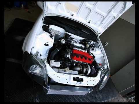 Civic D16z6 Turbo GT2871 Topmount 352PS.wmv