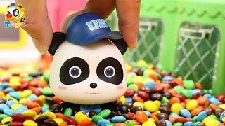 奇奇掉進了彩虹糖果里| 寶寶玩具 | 兒童玩具 | 玩具巴士