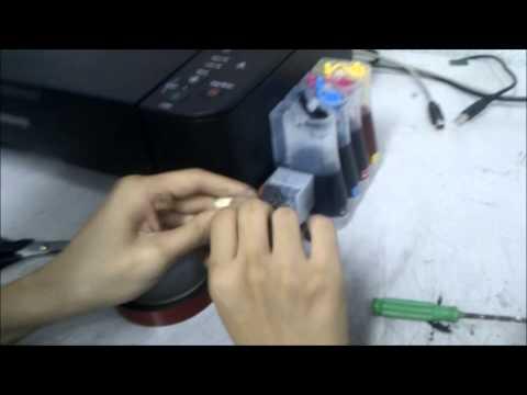 MP237 CISS installation with regulator  04