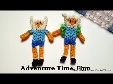 Adventure Time: Finn Action Figure/Character - How to Rainbow Loom Design
