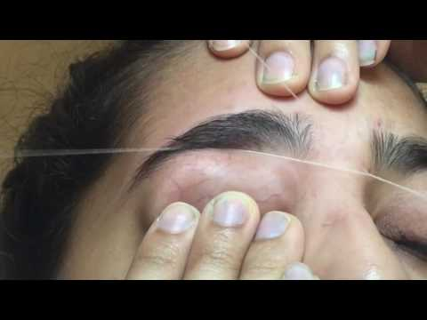 Crazy pain   eyebrow threading   first time