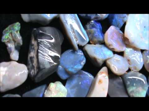 Lightning Ridge Black Opal Rough from Wind River Gems, April 11, 2013
