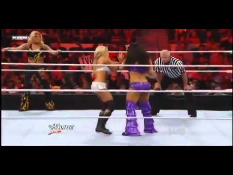 WWE Raw 6 6 11  Kelly Kelly & Beth Phoenix vs. The Bella Twins