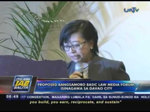 Proposed Bangsamoro Basic Law media forum, isinagawa sa Davao City