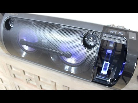Review of the Sony Portable Party System BOOM BOX with iPhone Docking Station