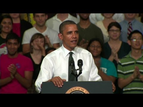 President Obama heckled at energy speech
