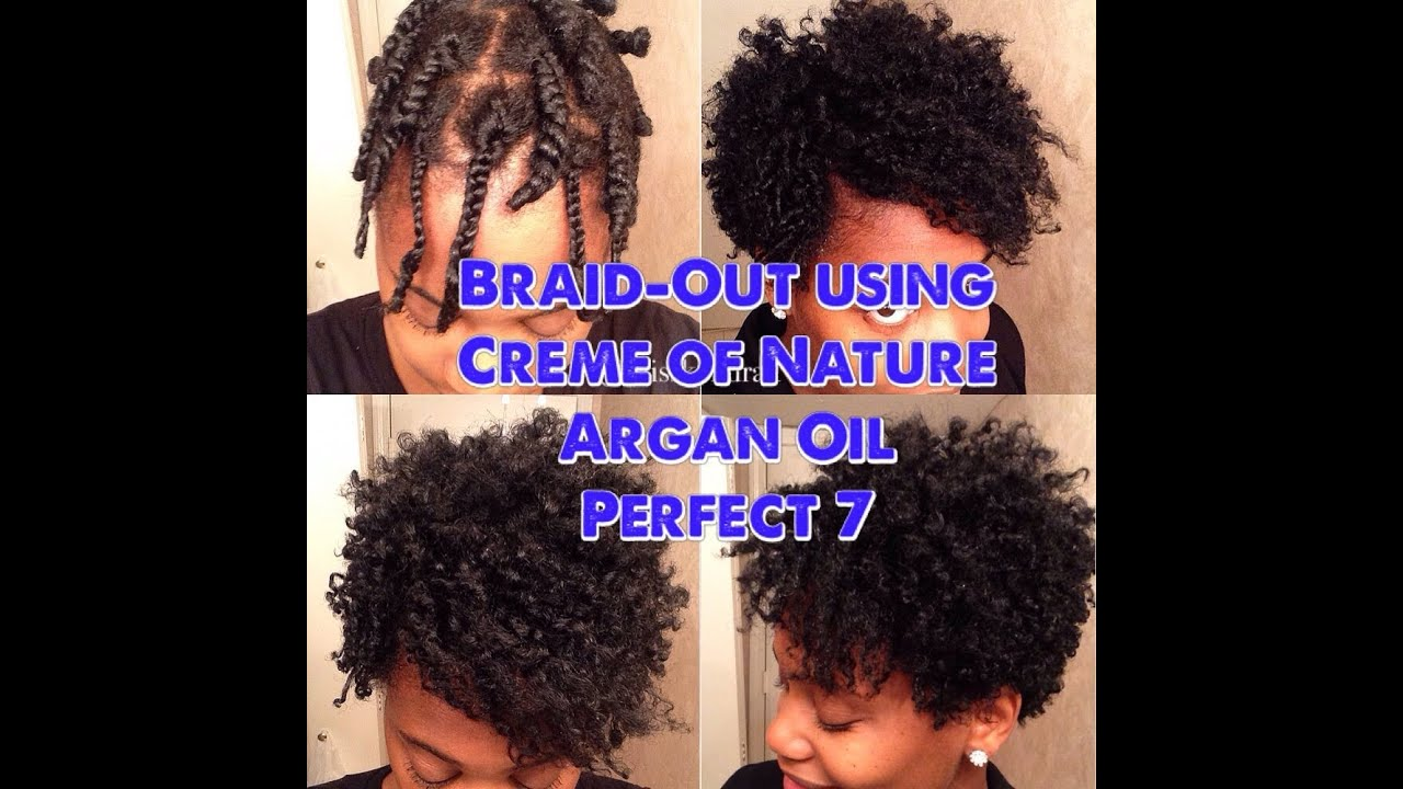 Big Volumious Tapered Braid Out Using Creme Of Nature