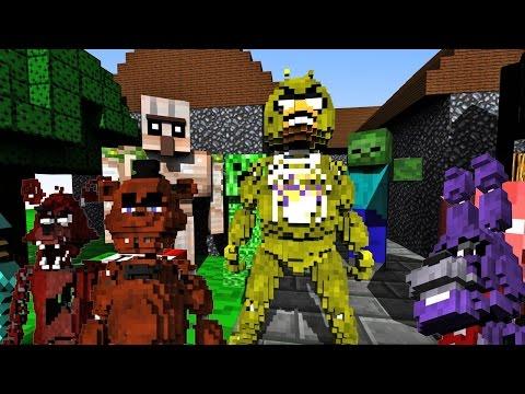Smashing FNAF Animatronics in Minecraft