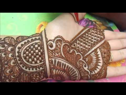 Simple Easy Indian Bridal Henna MehndiFull Hand Pakistani
