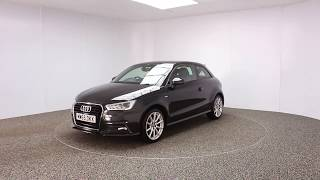 AUDI A1 1.4 TFSI S LINE 3DR HALF LEATHER SEATS 1 OWNER 123 BHP