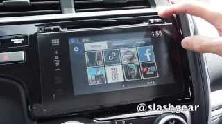 2015 Honda Fit infotainment walkthrough