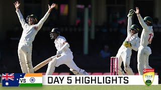 Brave India pull off the great escape at the SCG   Vodafone Test Series 2020-21