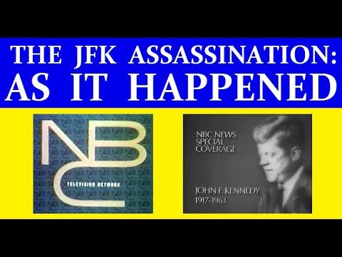 NBC-TV COVERAGE OF JFK'S ASSASSINATION (PART 1) *** VERY HIGH QUALITY ***