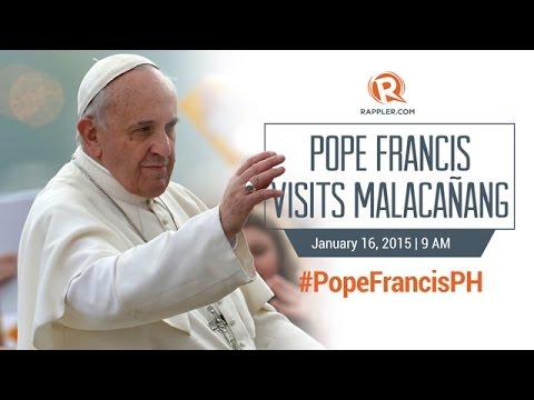 #PopeFrancisPH: Pope Francis visits Malacañang
